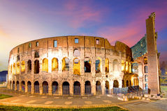Rome - Colosseum. At a sunset Royalty Free Stock Photo