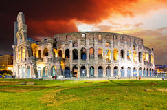 Rome - Colosseum. At a sunset Stock Image