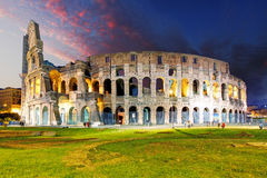 Rome - Colosseum. At a sunset Stock Images