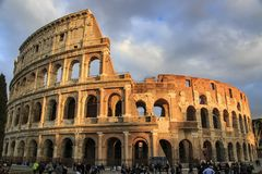 Rome: the Colosseum at sunset.