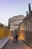 Rome colosseum with tourists italy Royalty Free Stock Photos