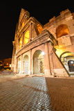 Rome, Colosseum. View on illuminated Colosseum in Rome Stock Photo