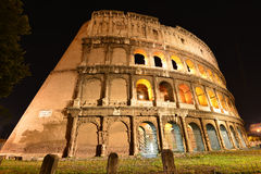 Rome, Colosseum. View on illuminated Colosseum in Rome Stock Image