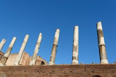 Rome Columns. Some very old Roman Columns near the Colosseum in Rome , Italy Royalty Free Stock Photography