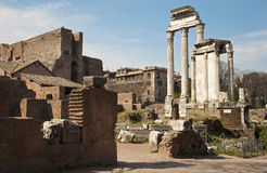 Rome - columns of Forum romanum Stock Photos