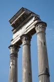 Rome - columns of Forum romanum Stock Photo