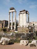 Rome - columns of Forum romanum Stock Photo