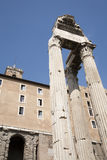 Rome - columns - Temple of Saturn - Forum romanum Stock Photo
