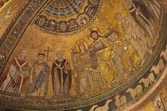 Rome - Corontation of the Virgin- Trastevere Royalty Free Stock Image