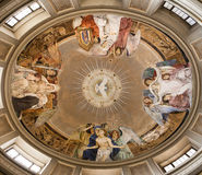 Rome - cupola from Santa Prassede chuch Stock Photo