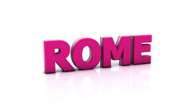Rome in 3d Stock Photography