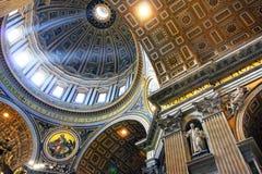 Rome de basiliek van Vatikaan, Italië - van Heilige Peter Royalty-vrije Stock Foto's