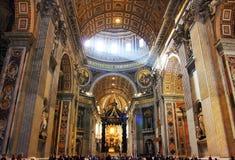 Rome de basiliek van Vatikaan, Italië - van Heilige Peter Royalty-vrije Stock Foto