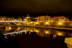Rome in de nacht Stock Fotografie