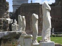 Rome: De ruïnes van het oude roman forum Stock Afbeelding