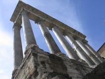 Rome: De ruïnes van het oude roman forum royalty-vrije stock foto's