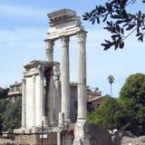 Rome - de ruïnes van Romanum van het Forum Stock Foto