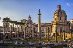 Rome - de ruïnes van Romanum van het Forum Royalty-vrije Stock Afbeelding