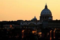 Rome: De stad van Vatikaan: St. Peter Basiliek Royalty-vrije Stock Foto's