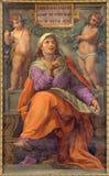 Rome - den profetDaniel freskomålningen i Basilika di Sant Agostino (Augustine) vid Pietro Gagliardi form 19 cent Fotografering för Bildbyråer