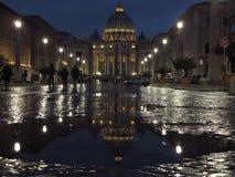 Rome den St Peter basilikan royaltyfri fotografi