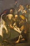 Rome - The Deposition of the Cross by Dirk van Baburen 1617 in church San Pietro in Montorio. Royalty Free Stock Photos