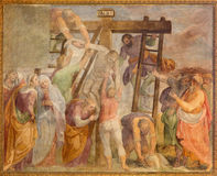 Rome  - The Deposition fresco in church Chiesa San Marcello al Corso by Paolo Baldini (1600) Stock Images