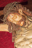 Rome - The detail of carved Crucifixion from 17. cent. in church Chiesa del Jesu by unknown artist. Stock Image
