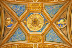 Rome - Detail of ceiling in church Santa Maria di Pace Royalty Free Stock Photo