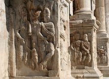 Rome - detail of Constantin triumph arch. Rome - detail of arch of triumph - Arch of Constantine by Colosseum Royalty Free Stock Photography