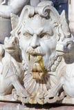 Rome - The detail of fountain Fontana del Moro by Giacomo della Porta 1575 on Piazza on Navona Royalty Free Stock Photo