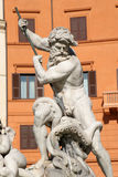 Rome - detail from fountain from Piazza Navona Royalty Free Stock Photography