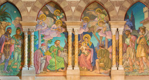 Rome - detail of mosaic of Three Magi by Edward Burne-Jones 1833 - 1898 in anglicans church Chiesa di San Paolo dentro le Mura. Stock Photo
