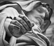 Rome - Detail of st. John the Evangelist stock photography