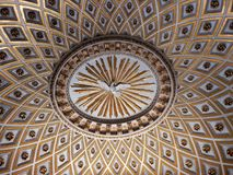 Rome - Dome of the Church of Jesus and Mary. Rome, Lazio, Italy - May 30, 2017: detail of the intradosse of the vault of one of the chapels of the Church of royalty free stock images