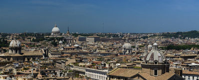 Rome domes view stock images