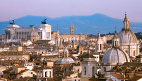 Rome Downtown. Travel Series - Italy. View above downtown of Rome, Italy royalty free stock images