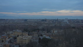 Rome at dusk stock footage