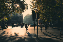 Rome in early morning. Street view. Royalty Free Stock Image