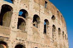 Rome empire colloseum. Photo shows remaining parts of the Rome empire ruins stock photo