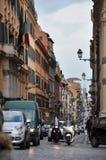 Rome a encombré des rues image libre de droits