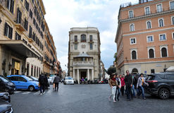 Rome a encombré des rues images libres de droits