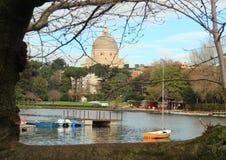 Rome, Eur-område och sjön Royaltyfri Bild