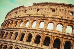 Rome, Exterior of the Colosseum or Coliseum Royalty Free Stock Photo