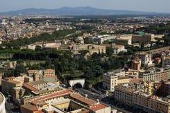 Rome fågelperspektiv Arkivfoto