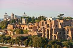 rome för cirkusitaly maximus solnedgång royaltyfri fotografi