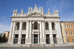 Rome -  facade of St. John  Lateran basilica Royalty Free Stock Photography