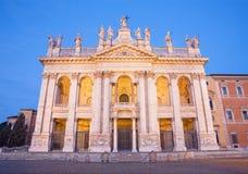 Rome - The facade of St. John Lateran basilica Basilica di San Giovanni in Laterano Royalty Free Stock Photos