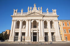 Rome - The facade of St. John Lateran basilica Stock Photo