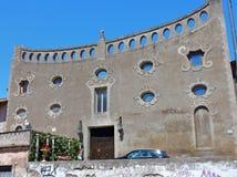 Rome - fasad av S Maria dei Cerchi Arkivbilder